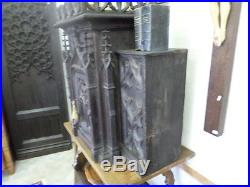 French Antique Religious Gothic Tabernacle 1700s