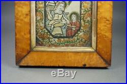 Georgian Religious Straw Work Collage Picture Dressed Print Circa 1790