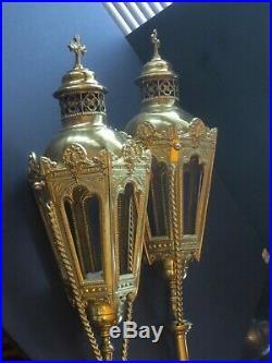 Gothic Religious Lantern Lights Vintage Processional Lanterns