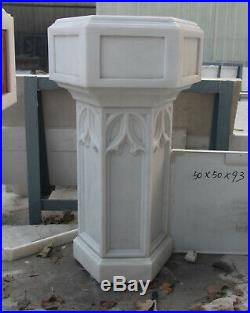 Hand Carved Marble Baptismal, Religious Church Furnishings, Gothic