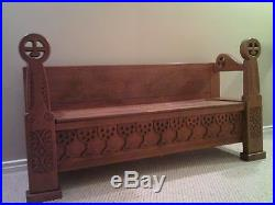 Handcrafted Religious Bench and Storage Settee