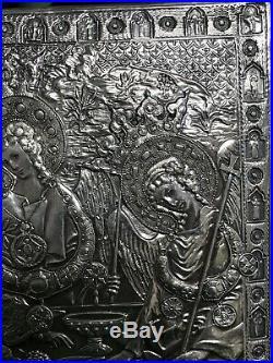 Henryk Winograd Silver 925 Repoussé Icon Plaque Religious Saints Angles Trinity