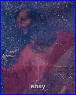 Huge 16th 17th Century St Bartholomew Spanish Old Master Antique Oil Painting