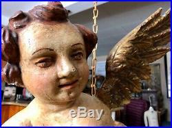 Huge Antique Architectural Salvage Italian Cherub Angel Putto, Religious Figure
