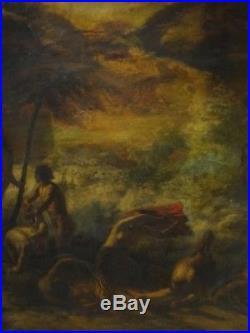 Huge Fine 17th Century Italian Old Master Apocalypse Antique Oil Painting