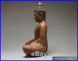 Khmer Antique Style Teak Buddha 19th Century Cambodian XXcm/XX