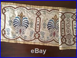 LONG ANTIQUE SILK HAND EMBROIDERY ON SILK RELIGIOUS PELICAN MOTIF 204cm