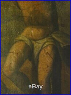 Large 16th 17th Century Spanish Old Master Saint Sebastian & St Roch Antique