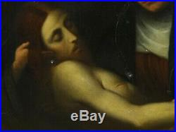 Large 18th Century Italian Old Master Lamentation Of Christ Antique Oil Painting