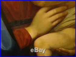 Large 18th Century Italian Old Master Madonna & Child RAPHAEL Antique Oil