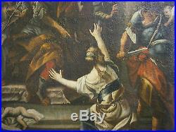 Large Antique C1730 Judgement Of Solomon Francesco Solimena Italian Old Master