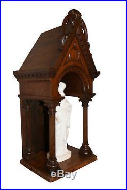 Large French Oak Antique Religious Chapel, 19th Century, Gothic