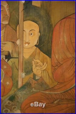 Large Impressive Antique Buddhist Art Tibetan Thangka painting