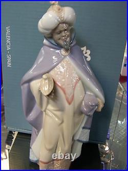 Lladro King Balthasar #5481 Brand Nib Xmas Nativity 3 Kings Religious Save$ F/sh