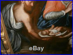 Magnificent Antique Holy Family Italian School Devotional Old Master 17th/18th