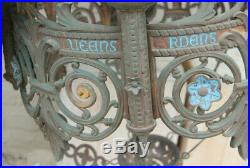 Majestical XXL neo gothic castle church Bronze enamel chandelier lamp religious