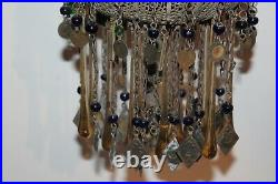 Middle Eastern Arabic Hanging Chime Religious Spiritual Glass Metal Figures