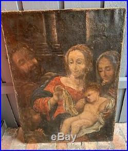 Mystery Artist C. 16th Century Large Original Religious Work Antique