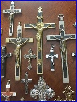 Nun S Antique Estate 66 Pieces Crucifix Skull Amp Crossbones