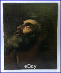 OLD MASTER Oil Painting VISION OF SAINT JEROME Antique Panel 17 C. ITALIAN