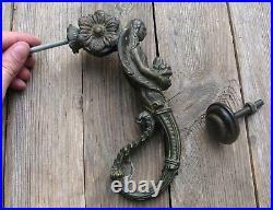 Old Decorative Bronze Angel / Religious Door Knocker