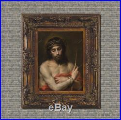 Old Master Art Antique Jesus Oil Painting Portrait Christ Italian Art 30x40