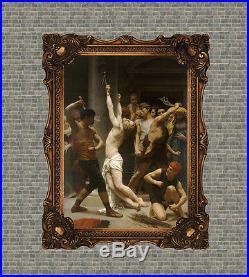 Old Master Art Antique Portrait Man Jesus Christ Religious Oil Painting 36x48
