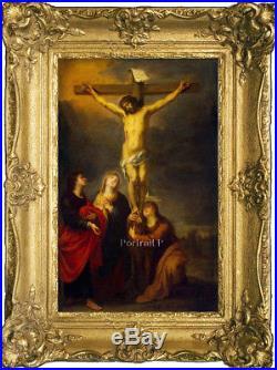 Old Master Oil Painting Art Antique Portrait Christ Jesus on The Cross Canvas