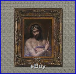 Old Master Painting Antique Portrait Jesus Christ Religious Art Unframed 24x30