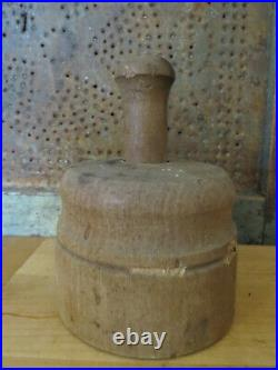 Old STAR OF DAVID Wooden Religious Butter Mold Press Primitive Farmhouse Antique