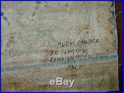 Old Traditional Kamasan Balinese Religious Painting On Cloth Signed