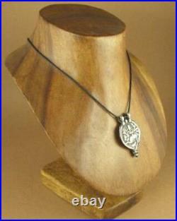 Old /antique Indian Tribal silver pendant. Goddess Kali. Amulet. Fine silver