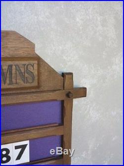 Original Oak Wall Mounted Church / Chapel Hymn Board Old Religious Antiques