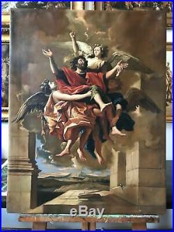 Pair Antique vintage religious painting Jesus painting Italian Renaissance