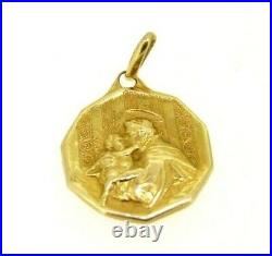 Pendant Antique Sant' Antonio From Padova Vintage Years' 50 IN Gold Solid 18 KT