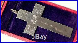 RARE LARGE Antique VICTORIAN Silver CROSS Pendant -Religious Example dating 1863