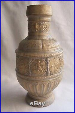 Raeren / Westerwald Panel Jug with religious scenes Bellarmine stoneware
