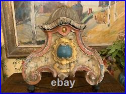 Rare Antique 18th Century French Italian Religious Wood Alter Fragment Stand
