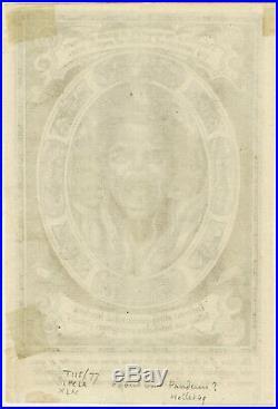 Rare Antique Master Print-RELIGION-HELL-SINNER-DEVIL-Panderen-ca. 1620