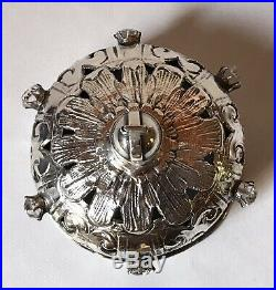 Rare Antique Religious Solid Sterling Silver Russian Crown