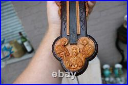 Rare German black forest Wood carved crucifix 12 apostles christ religious rare
