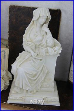 Rare Religious Antique LA VESTALE virgin marked sevres bisque porcelain 1900
