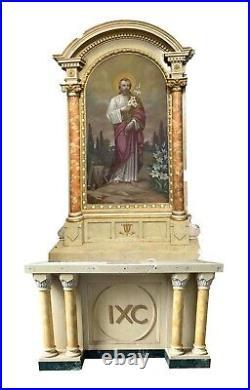 Religious Church Side Altar Depicting Joseph