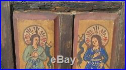 Religious Painted Mexican or Spanish Church Window Shutter Beautiful