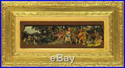 Roberto Fontana (1844-1907) Italian Listed Antique Oil/Panel Diana and Actaeon