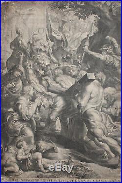 Rubens Antique Religious Engravnig Exceptional Large Engraving