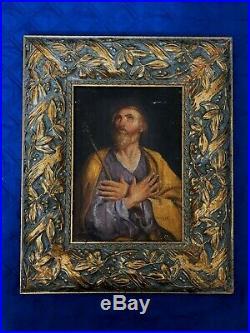 ST. JOSEPH ANTIQUE 17th CENTURY OLD MASTER OIL PAINTING ITALIAN 1670-1690