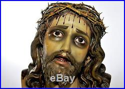 STUNNING Antique Religious Gothic Bust of Christ BEAUTIFUL French Art sku# 5495