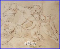 Superb 17th. Century Old Master Religious Watercolour Drawing Italian Spanish