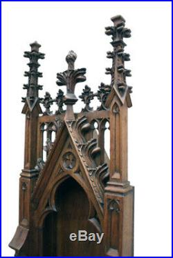 Tall Antique French Oak Religious Chapel, 19th Century
